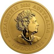 Australia 100 Dollars Australian Gold Swan 2020 ELIZABETH II 2020 AUSTRALIA 100 DOLLARS coin obverse