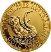 Australia 100 Dollars Australian Gold Swan 2020 THE 1OZ 9999 AUSTRALIAN GOLD SWAN coin reverse