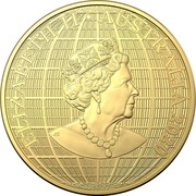 Australia 100 Dollars Beneath the Southern Skies 2020 UNC ELIZABETH II AUSTRALIA 2020 coin obverse