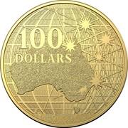 Australia 100 Dollars Beneath the Southern Skies 2020 UNC 100 DOLLARS 1 OZ 9999 GOLD coin reverse