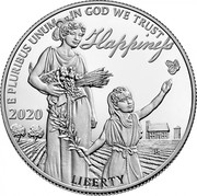 USA 100 Dollars Happiness 2020 Proof E PLURIBUS UNUM IN GOD WE TRUST HAPPINESS 2020 LIBERTY coin obverse
