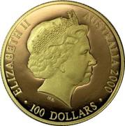 Australia 100 Dollars Summer Olympics 2000 Proof KM# 521 ELIZABETH II AUSTRALIA 2000 100 DOLLARS IRB coin obverse
