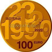 Slovenia 100 Euro (30th Anniversary of Plebiscite on Sovereignty and Independence) 23.12.1990 SLOVENIJA 2020 3 EURO coin obverse