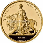 UK 1000 Pounds (Una and The Lion) DIRIGE DEUS GRESSUS MEOS. MMXIX. W.WYON R.A. coin reverse