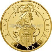 UK 1000 Pounds (Yale of Beaufort;) 2019 JC YALE OF BEAUFORT coin reverse