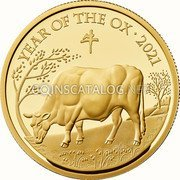 UK 1000 Pounds (Year of The Ox) YEAR OF THE OX 2021 牛 HB coin reverse