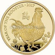 UK 1000 Pounds (Year of the Rooster) YEAR OF THE ROOSTER 2017 鷄 coin reverse