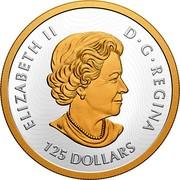 Canada 125 Dollars 75th Anniversary of UNESCO 2020 ELIZABETH II CANADA D G REGINA 125 DOLLARS coin obverse
