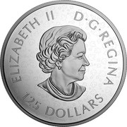 Canada 125 Dollars Canadian Maple Leaves 2020 ELIZABETH II D G REGINA 125 DOLLARS coin obverse