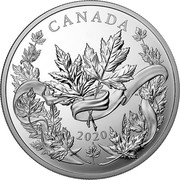 Canada 125 Dollars Canadian Maple Leaves 2020 CANADA 2020 coin reverse