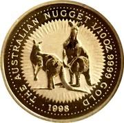 Australia 15 Dollars (Two kangaroos) THE AUSTRALIAN NUGGET 1/10 OZ 9999 GOLD 1998 coin reverse