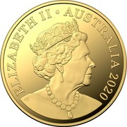 Australia 2 Dollars Aboriginal Elder 2020 Proof ELIZABETH II AUSTRALIA 2020 coin obverse