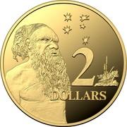 Australia 2 Dollars Aboriginal Elder 2020 Proof 2 DOLLARS coin reverse