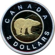 Canada 2 Dollars Polar Bear Toonie 2012 Proof KM# 837 CANADA 2 DOLLARS coin reverse