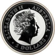 Australia 2 Dollars The Australian Kookaburra 2006 P ELIZABETH II AUSTRALIA 2 DOLLARS coin obverse