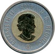 Canada 2 Dollars (Toonie) ELIZABETH II D G REGINA 2010 coin obverse