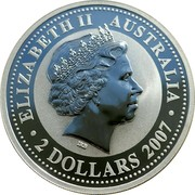 Australia 2 Dollars (Year of the Rat) ELIZABETH II AUSTRALIA 2 DOLLARS 2007 IRB coin obverse