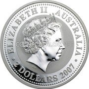 Australia 2 Dollars (Year of the Tiger) ELIZABETH II AUSTRALIA 2 DOLLARS 2007 IRB coin obverse