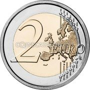 Cyprus 2 Euro (30 years of the Cyprus Institute of Neurology and Genetics) 2 EURO coin obverse