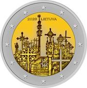 Lithuania 2 Euro the Hill of Crosses 2020 2020 LIETUVA KRYŽIŲ KALNAS coin obverse