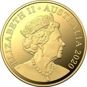 Australia 20 Cents 2020 Proof Commonwealth of Australia ELIZABETH II AUSTRALIA 2020 JC coin obverse