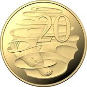 Australia 20 Cents 2020 Proof Commonwealth of Australia 20 SD coin reverse
