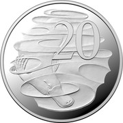 Australia 20 Cents 2020 Proof. Sets only Commonwealth of Australia 20 SD coin reverse