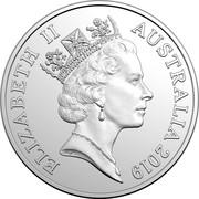Australia 20 Cents Effigies Over Time 2019 Effigies Over Time Sets only KM# 82.2 ELIZABETH II AUSTRALIA 2019 coin obverse