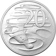 Australia 20 Cents Effigies Over Time 2019 Effigies Over Time Sets only KM# 82.2 20 coin reverse