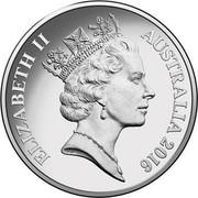 Australia 20 Cents (Queen Elizabeth II 90th Birthday) KM# 82.1 ELIZABETH II AUSTRALIA 2016 RDM coin obverse