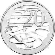 Australia 20 Cents (Queen Elizabeth II 90th Birthday) KM# 82.1 20 SD coin reverse