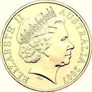 Australia 20 Cents Year of the Surf Lifesaver 2007 KM# 820b ELIZABETH II AUSTRALIA 2007 coin obverse