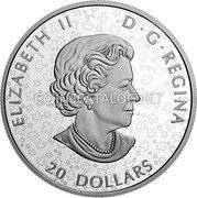Canada 20 Dollars (The Canadian Maple Masters Collection) ELIZABETH II D G REGINA 20 DOLLARS coin obverse