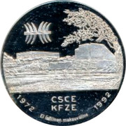 Finland 20 ECU CSCE KFZE Conference 20th Anniversary 1992 Proof CSCE KFZE 1972 1992 EL LAILINEN MAKSUVALINE coin reverse