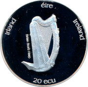 Ireland 20 ECU St. Patrick 1995 IRELAND IRLAND 20 ECU ÉIRE coin reverse