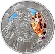 Belarus 20 Rubles (D'Artagnan) KM# 242a D'ARTAGNAN coin reverse