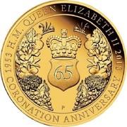 Australia 200 Dollars 65th Anniversary Coronation 2018 P Proof H.M. QUEEN ELIZABETH II 1953 2018 65 CORONATION ANNIVERSARY coin reverse
