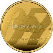 UK 200 Pounds (Bond - Pay attention 007) PAY ATTENTION 007 coin reverse