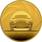 UK 2000 Pounds Bond - 007 2020 ELIZABETH II D G REG F D 2000 POUNDS 2020 coin obverse