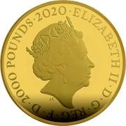 UK 2000 Pounds Bond - 007 2020 007 coin reverse