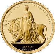 UK 2000 Pounds Una and The Lion 2019 Proof DIRIGE DEUS GRESSUS MEOS. MMXIX. W.WYON R.A. coin reverse