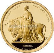 UK 2000 Pounds (Una and The Lion) DIRIGE DEUS GRESSUS MEOS. MMXIX. W.WYON R.A. coin reverse