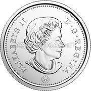 Canada 25 Cents (The narwhale) ELIZABETH II D G REGINA coin obverse