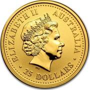 Australia 25 Dollars Kangaroo 2002 P Proof ELIZABETH II AUSTRALIA 25 DOLLARS coin obverse