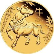 Australia 25 Dollars (Year of the Ox) 牛 OX 2021 P coin reverse