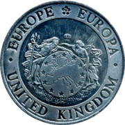 UK 25 ECU 1995 UNC British Token Coins EUROPE EUROPA UNITED HINGDOM coin reverse