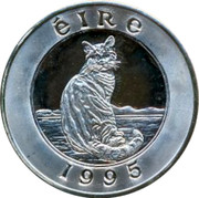 Ireland 25 ECU Cat 1995 Proof X# 38 ÉIRE 1995 coin reverse