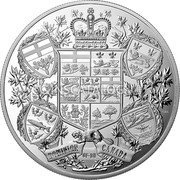 Canada 250 Dollars (Arms of Dominion of Canada) DOMINION OF DU CANADA coin reverse