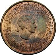 Luxembourg 250 francs Charlotte 1963 KM# E69 CAROLA MAGNA DVCISSA FELICITER REGNANTE -963-1963- +CIVITAS LVCEMBORGENSIS MILLESIMVM OVANS EXPLET ANNVM JN LEFEVRE ESSAI coin obverse