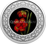 Canada 3 Dollars (Newfoundland and Labrador: Pitcher Plant)  coin reverse